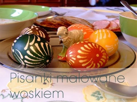 Easter eggs decorated with wax DOROTA.iN