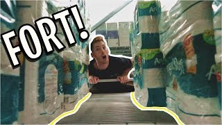 TOILET PAPER TUNNEL FORT (BARELY ESCAPED!)