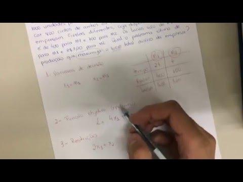 Pesquisa Operacional - Modelagem em Programação Linear I - IFormei