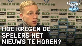 Zo kregen de Ajax-spelers het transfernieuws van Frenkie te horen   VERONICA INSIDE