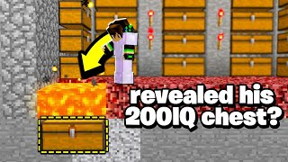 this Minecraft player revealed his 200IQ secret chest LOCATION!