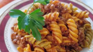 Deliciosa Pasta con carne y tomate || Cocina con rock