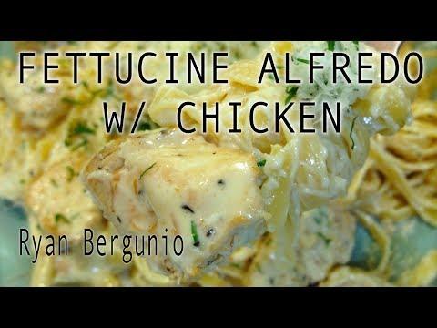 FETTUCINE ALFREDO WITH CHICKEN