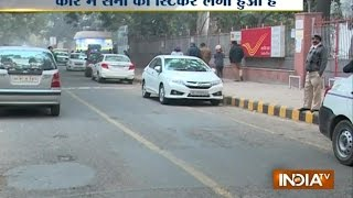 Santro Car with Army Sticker Stolen from Delhi's Lodhi Garden Area