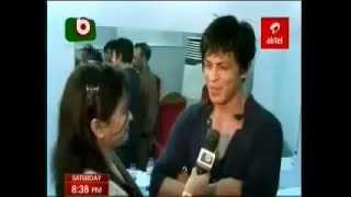 Shahrukh Khan interview Bangladesh backstage December 2013