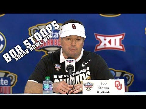 Hear what Oklahoma coach Bob Stoops said after Oklahoma s 35 19 win over Auburn