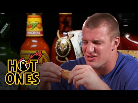 Rob Gronkowski Gets Blindsided by Spicy Wings Hot Ones