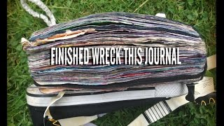 Finished WRECK THIS JOURNAL flip through || music version