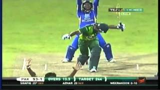 Sri Lanka v Pakistan 4th ODI 16 June 2012 - Full Highlights Part 3/4