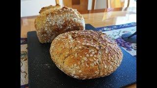 No-Knead Honey Oatmeal… (super easy… no mixer… no bread machine)