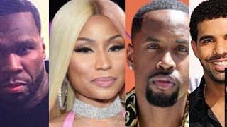 50 Cent REACTS to Nicki Minaj Dj Self Safaree, Jay Z Drake, Young Thug Trapboy Freddy, Casanova