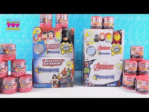 Justice League vs Avengers Mashems Squishy Toy Opening Review PSToyReviews