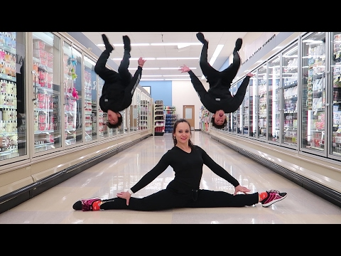 GYMNASTICS IN GROCERY STORE