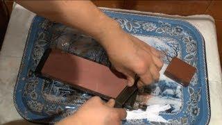 Заточка ножа со скандинавскими спусками - финки.
