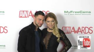 Kenzie Taylor and Seth Gamble at the 2017 AVN Awards Nomination Party at Avalon Nightclub in Hollywo