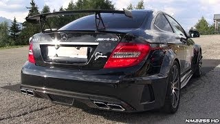 Mercedes C63 AMG Black Series Exhaust Sound - Start Up, LOUD Revs & More!