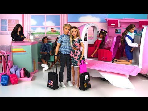 Xxx Mp4 Barbie Ken Airplane Travel Routine Barbie Vacation Pink Glamour Jet Barbie Packs Her Suitcase 3gp Sex