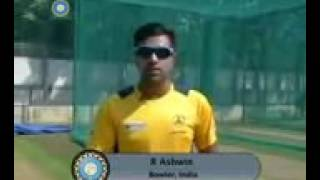R Ashwin how to put off spin ball step by step
