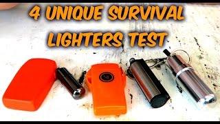 4 Unique Survival Lighters Test