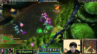 CLG vs DNG scrim - Game 1/3 - Doublelift POV