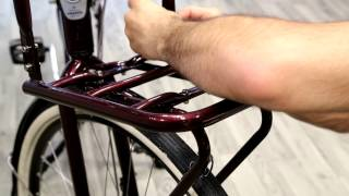 How to assemble front rack and light on Gazelle Heavy Duty NL - Be Dutch! Bicycles
