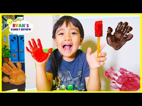 Finger painting for kids with Ryan s Family Review