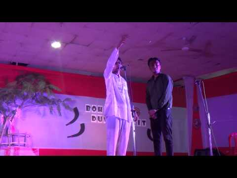 An Assamese Political comedy mimicry act by students at Bohagor Duwardolit 2014, IIT Guwahati