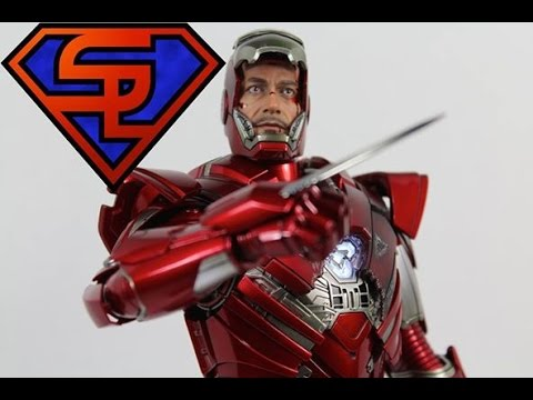 Iron Man 3 Hot Toys Mark XXXIII Silver Centurion Movie Masterpiece 1 6 Scale Figure Review