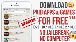 Install Paid Apps for Free IOS 10.2 - 10.3.2 No Jailbreak No Computer (iPhone, iPad, iPod)