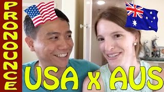 Australian english accent X American accent challenge – Funny