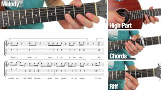 Uptown Funk - Mark Ronson - Guitar Lesson - MELODY - Play Through