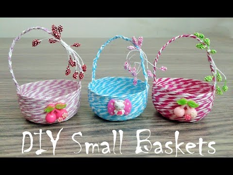 How to make Cute Baskets, DIY Small Baskets