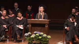 SMTD Commencement 2017: Student Speaker Tsukumo Niwa