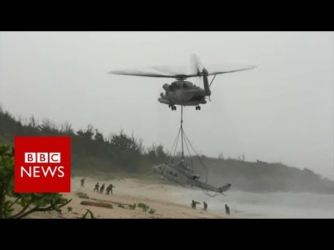 Xxx Mp4 US Marines Rescue Their Helicopter With A Bigger One BBC News 3gp Sex
