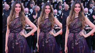 Deepika Padukone in See Through Dress at Cannes Film Festival 2017