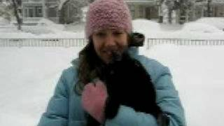 Kitty in the Snowbank...1,2,3, Throw!