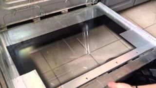 Clean in the inside of your Oven Door Glass