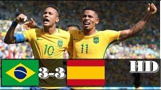 Brazil vs Spain 3-3 -  All Goals & Extended Highlights RÉSUMÉ & GOLES ( Last Match ) HD