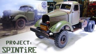 """RC ADVENTURES - Project: """"SPiNTiRE"""" - PATiNA BASE PAiNT & SALT CHiPPiNG - 2WD KR11 Truck  / CA10"""