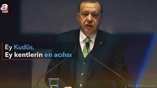 """""""EY KUDÜS !"""" ŞİİRİ Recep Tayyip Erdoğan Okuyor / 10.Aralık.2017 İnsan Hakları Günü Programı"""