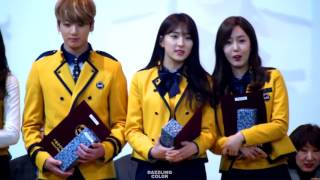 HD Fancam 170207 WJSN Eunseo, GF SinB, BTS Jungkook   Interaction @ SOPA Graduation Stage   YouTube