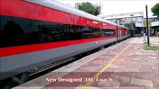 Newly Designed LHB 3AC Coach in Chennai Duronto    First on Youtube    Indian Railways
