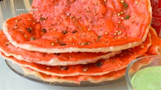 Katlama Lahori festival bread , Qatlama Recipe - Lahore street food,  Pakistani Bread Recipe قتلمہ