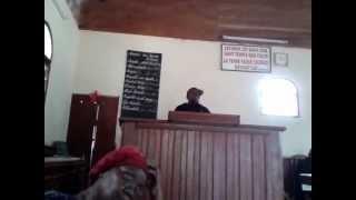 Sermon dominical en langue ngoumba sur la pratique de la dîme par le Rev Mba Joseph Bonaventure