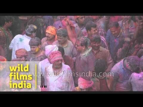 Xxx Mp4 Hindu Priests Throws Colour On Devotees Inside The Banke Bihari Temple Vrindavan 3gp Sex