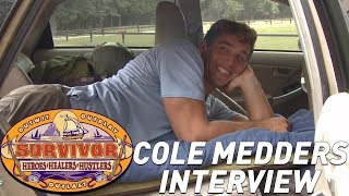 Cole Medders talks playing Survivor and living in a Prius