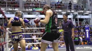Ellen (Sinbi Muay Thai) From Sweden Wins By KO!