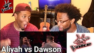 "The Voice 2017 Battle - Aliyah Moulden vs. Dawson Coyle: ""Walking on Sunshine"" (REACTION)"