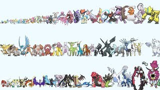 All Legendary & Mythical Pokemon From Smallest to Biggest
