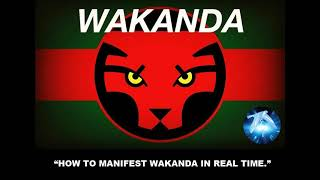 """REZURRECTION Time! RAdio -  """"HOW TO MANIFEST WAKANDA IN REAL TIME."""""""